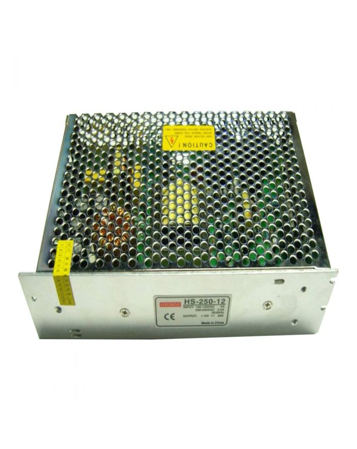 240W AC100V-240V to DC 12V 20A Non-Waterproof Metal Cover Universal LED Switching Power Supply