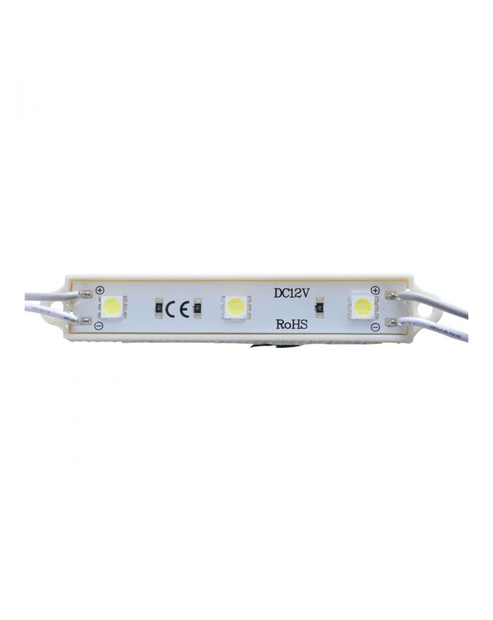 High Brightness DC12V SMD 5050 Waterproof LED Module (3 LEDs, White Light, 0.72W) for Channel Letters Store Fronts