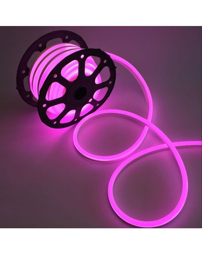 AC110V Pink LED Neon Rope Light Waterproof SMD2835 120 LEDS 8mmX17mm Neon Flex