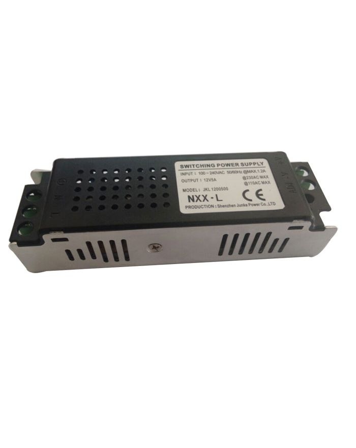 60W AC100V-240V to DC 12V 5A Non-Waterproof Metal Cover Universal Mini LED Switching Power Supply (for LED Module/LED Strip/LED Bar)