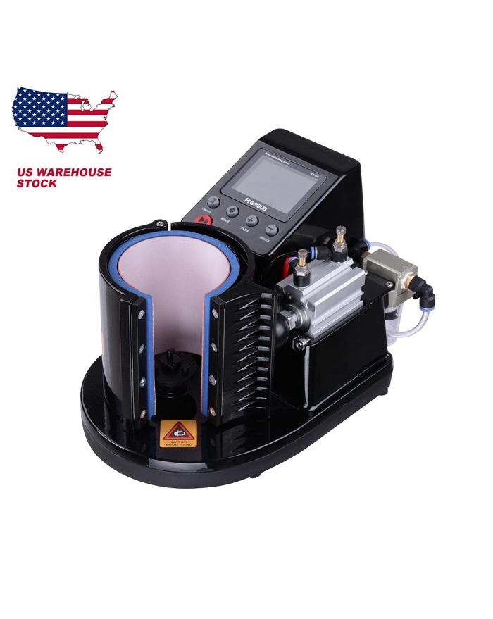 US STOCK Auto Pneumatic 11OZ Heat Press Machine For Mug Sublimation