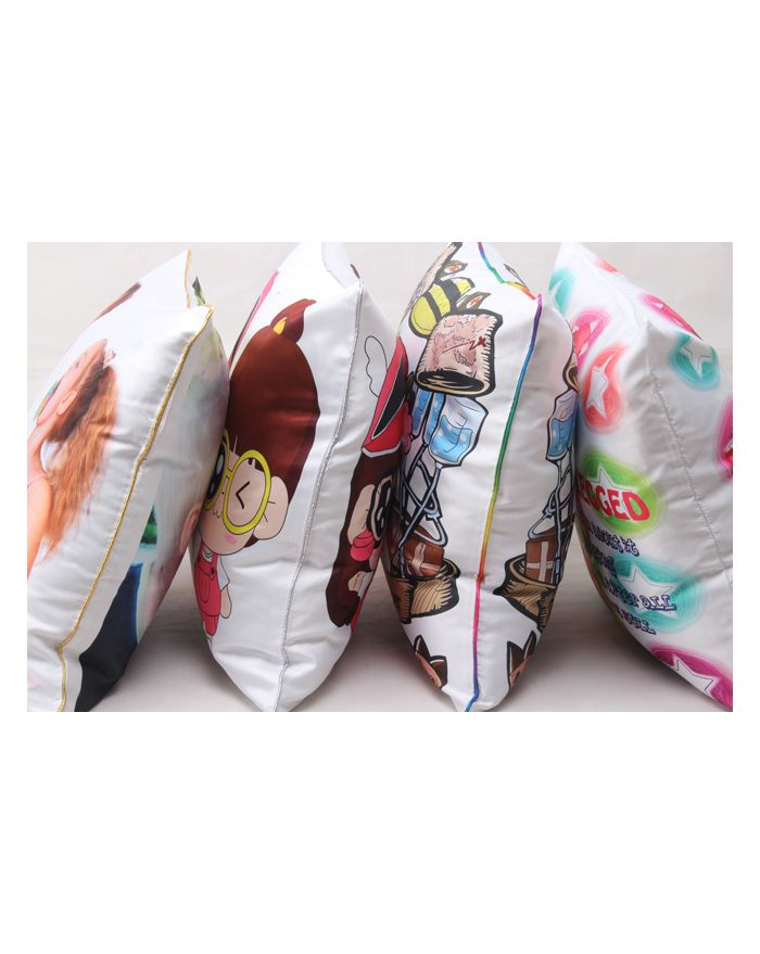 White 3D Sublimation Blanks Pillow Case Throw Cushion Covers with Edge Polyester