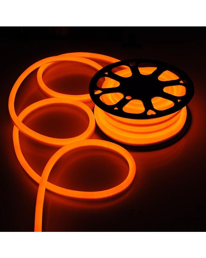 DC12V Orange Neon LED Rope Light Waterproof SMD2835 120 LEDS Neon Flex