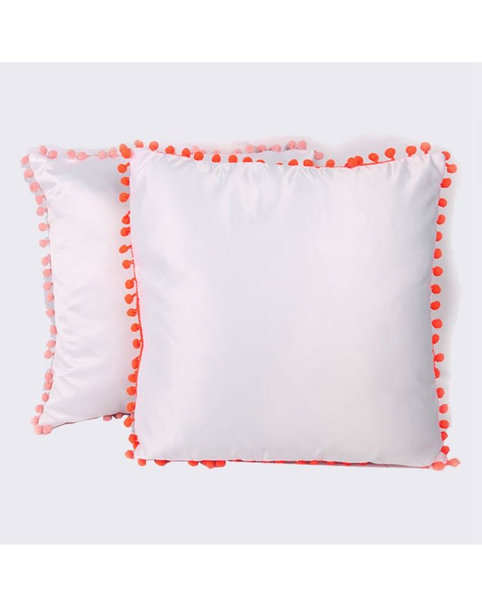 Sublimation Blanks Pillow Case with Dot Edge Pattern Cushion Cover 10PCS