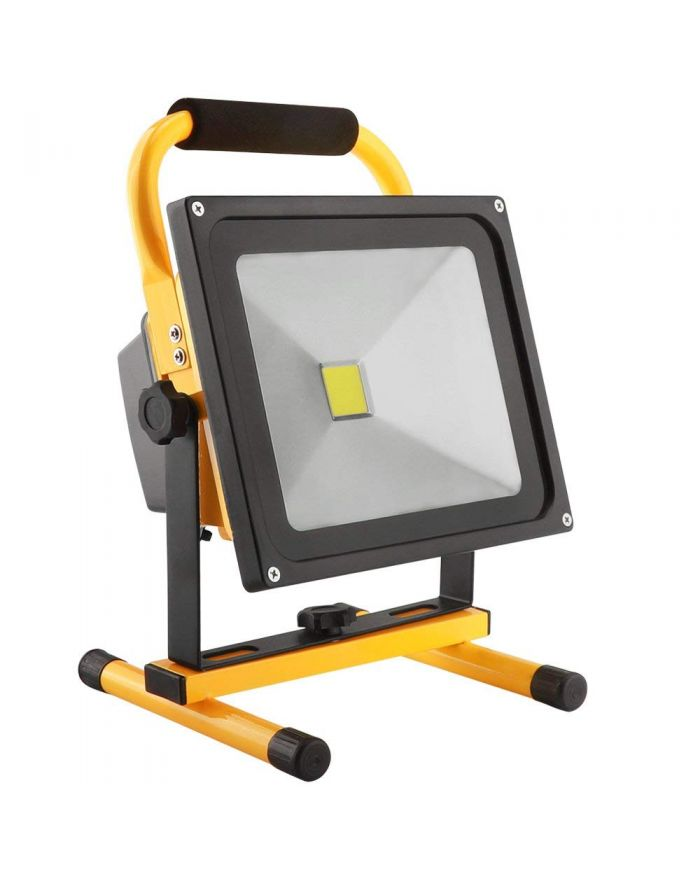 4 Hours 20W LED Work Light Rechargeable Flood Light Battery Powered for Outdoor Lighting