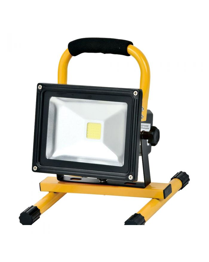 4 Hours 10W LED Work Light Rechargeable Flood Light Battery Powered for Outdoor Lighting