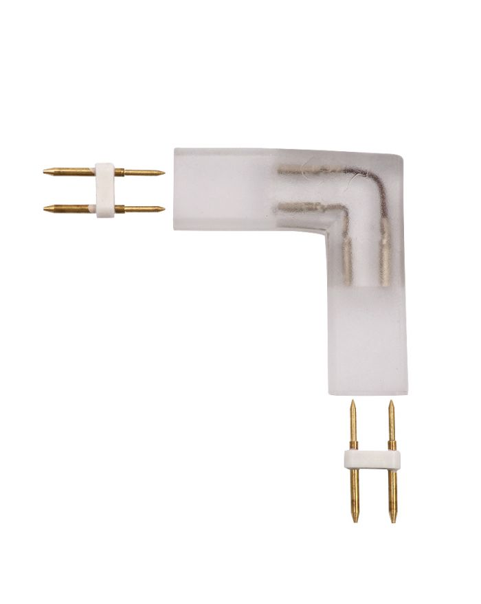 """LED CONNECTOR """"L"""" TYPE CONNECTOR FOR 8MM*17MM LED NEON ROPE LIGHT BELT"""