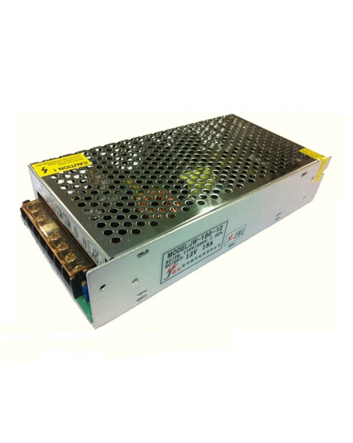 180W AC100V-240V to DC 12V 15A Non-Waterproof Metal Cover LED Power Supply Transformer Driver