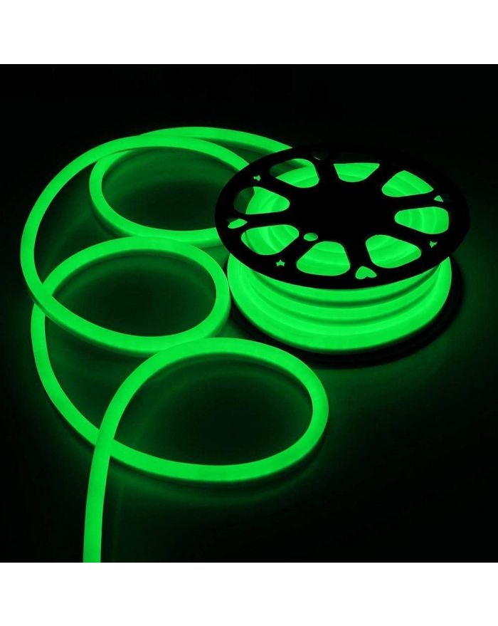 AC110V Green Neon LED Rope Light SMD2835 120 LEDS Neon Flex