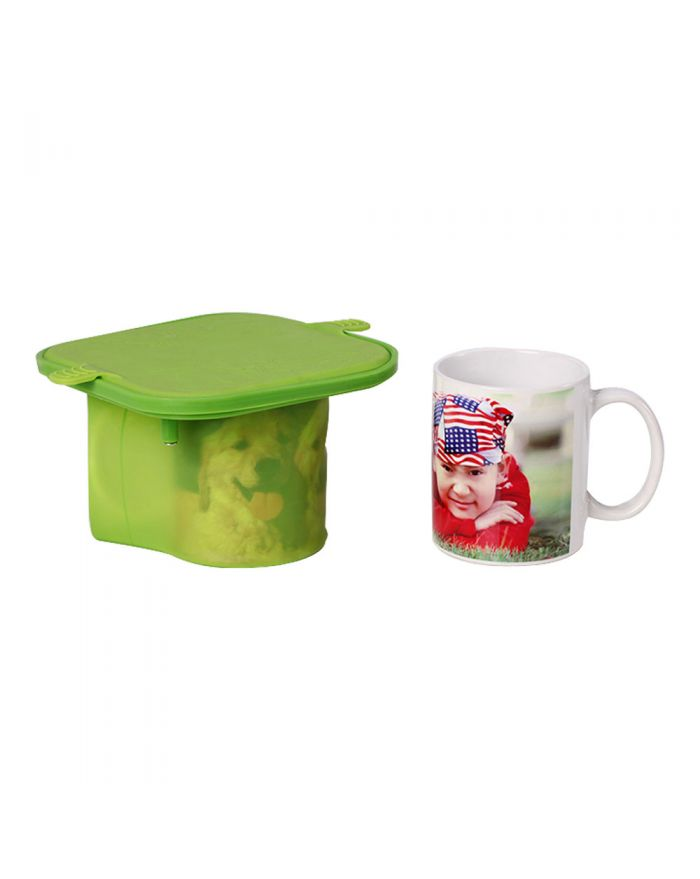 3D Sublimation 11OZ Heat Transfer Silicone Mold Mug Clamp for 11oz Mugs printing