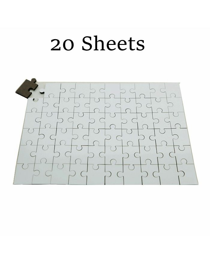 """7.8"""" x 11.4"""" White Rectangle Sublimation Blank Jigsaw Puzzle 120pcs/sheet For Heat Transfer 20 Sheets/Pack"""
