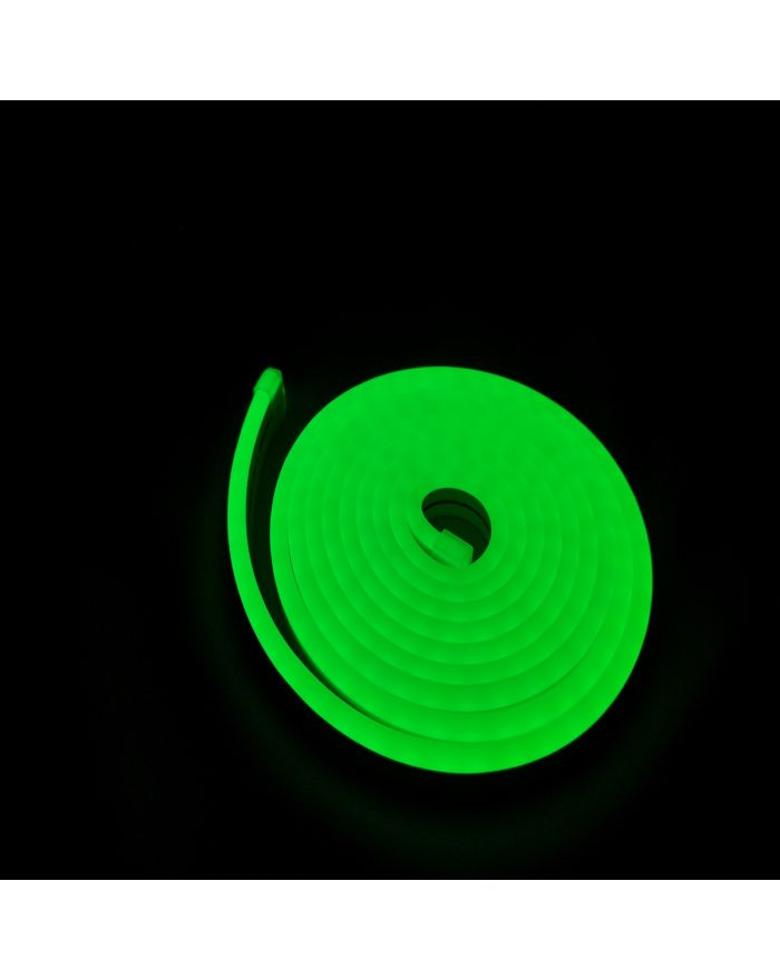 DC12V Silicone Green LED Neon Rope Light Waterproof SMD2835 120 LEDS Superior Neon Flex