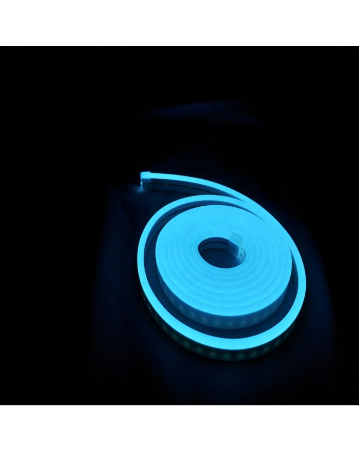 DC12V Silicone Ice Blue LED Neon Rope Light Waterproof SMD2835 120 LEDS Superior Neon Flex