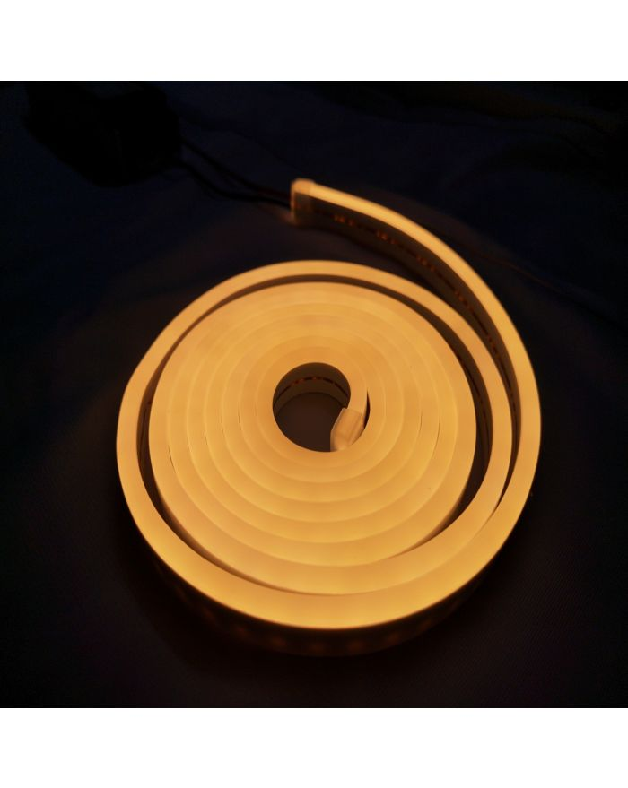DC12V Silicone Yellow LED Neon Rope Light Waterproof SMD2835 120 LEDS Superior Neon Flex