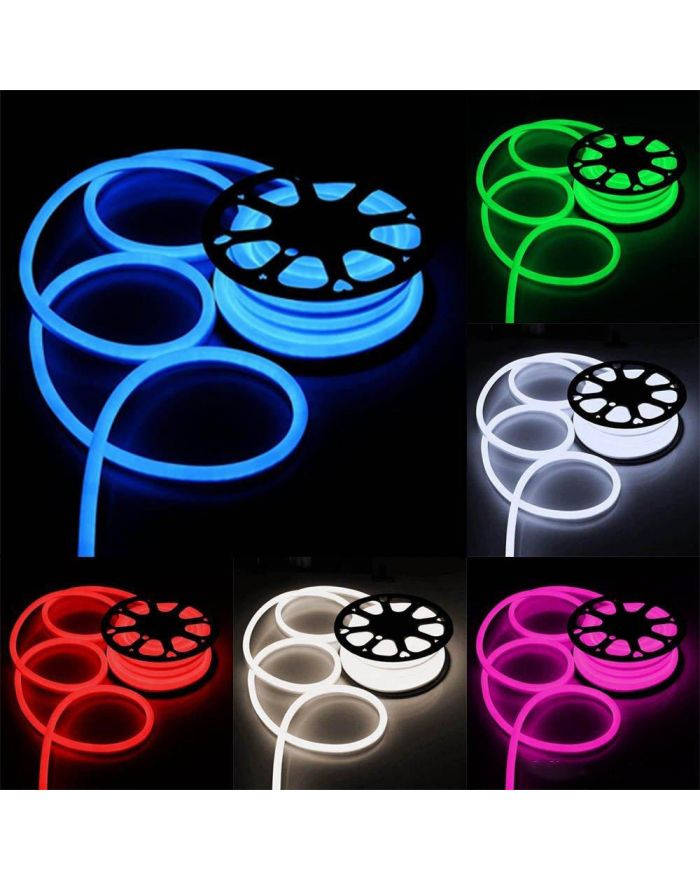 AC110V/220V Waterproof LED Neon Rope Light SMD2835 120 LEDS 8mmX17mm Neon Flex 3.3FT (1m)