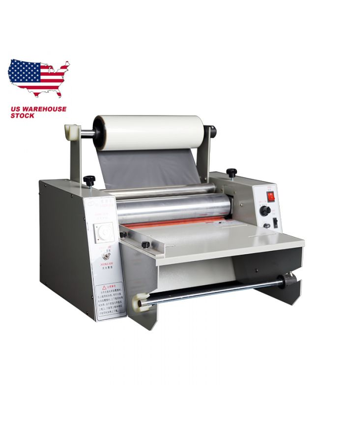 US STOCK 14 inch Roll Laminator Hot Roll Laminating Machine